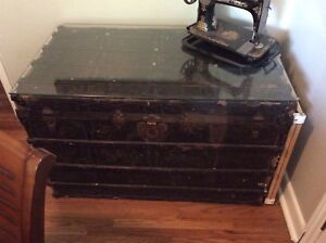 Antique train trunk