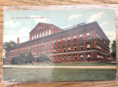 Pension Office Judiciary Square Washington DC Vintage Postcard Government