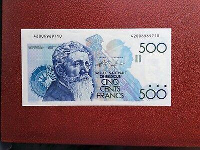 Belgique - Magnifique billet de 500 Francs Meunier (1986-89)  - Neuf