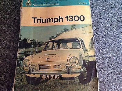 triumph 1300 car servicing guide / manual