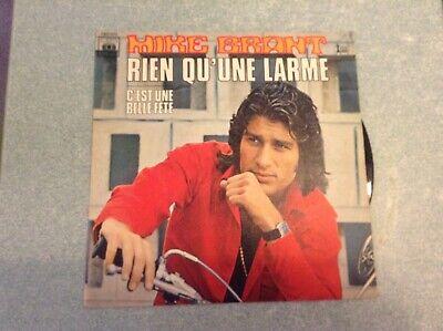 """""""ARB3""""Disque vinyle 45 tours /mike brant, rien qu'une larme"""