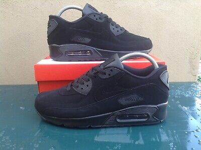 NIKE AIR MAX 90 TRAINERS / BLACK / SUEDE / ALL SIZES ***BRAND NEW IN BOX***