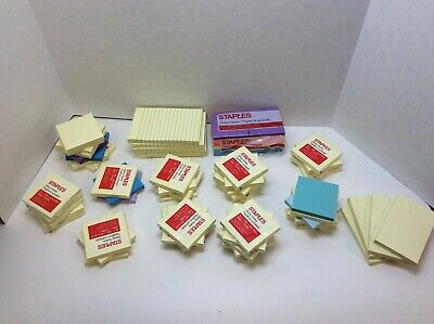 Staples Sticky Note Assorted Colors Assorted Sizes 70 Ct Lot Free Shipping