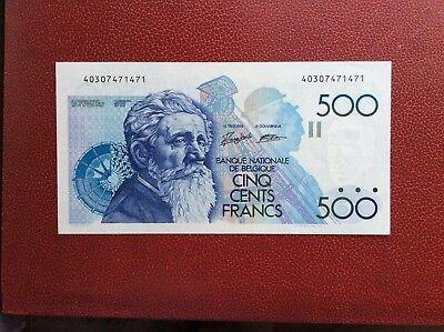 Belgique - Magnifique billet de 500 Francs Meunier ( 1989-92)   - Neuf