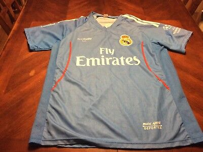 Madrid Football Club Fly Emirates Blue Marc Sport Jersey Size S Luis #2 image
