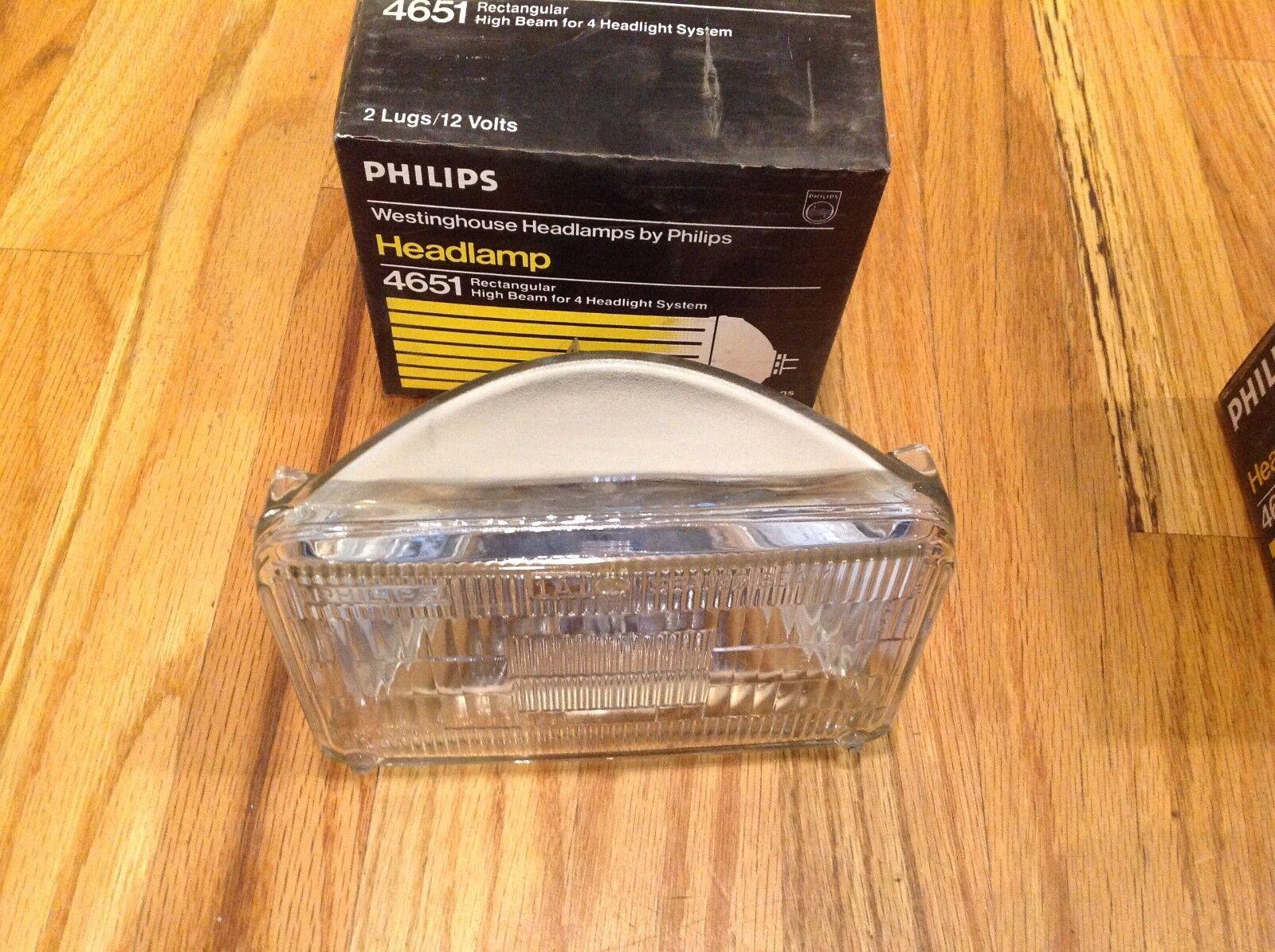 NEW Philips 4651 Rectangular High Beam Headlamp 12V  *FREE SHIPPING*