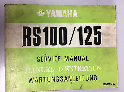 YAMAHA RS 100 125 SERVICE MANUAL