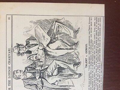 K1d ephemera punch cartoon 1896 talent v genius