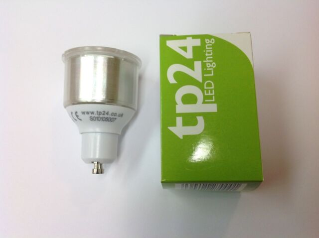 tp24 LED 3W lamp 8722 SMD NEW (Replaces 2886) Long neck GU10 LED Bulb.