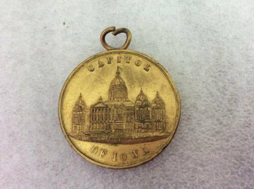 Republican National Convention Medal c. 1900 Capitol of Iowa Antique Medal