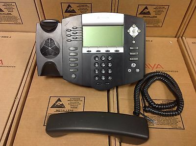 Polycom Soundpoint Ip 650 Ip650 Sip 2201-12630-001 Phone W Stand  Handset