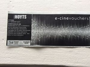 HOYTS e-cline voucher cinema child/senior general admission Auburn Auburn Area Preview