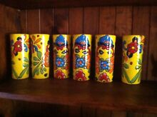 Mexican Hand Painted Tumblers Beeliar Cockburn Area Preview