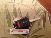 Lost Honda car key with remote starter