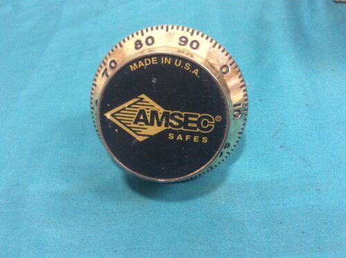 AMSEC brand safe combination lock dial, locksmith