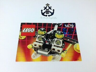 Lego Vintage Blacktron II Space 2-Pilot Craft Instructions For Set 1479-1
