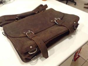 Full Thickness Cowhide leather Laptop Brief Case New Edmonton Edmonton Area image 2