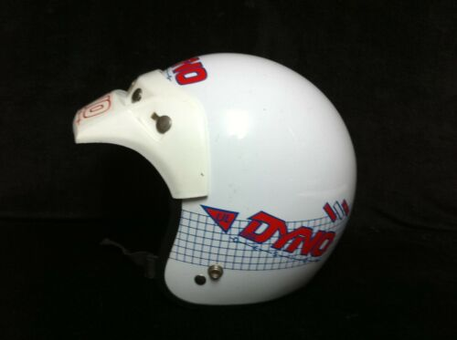 80s White UL DYNO DESIGN HELMET Old School BMX Racing Freestyle Bicycle Bike GT