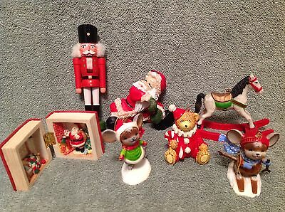 Vintage Christmas Ornaments +,  Mixed Lot of 7