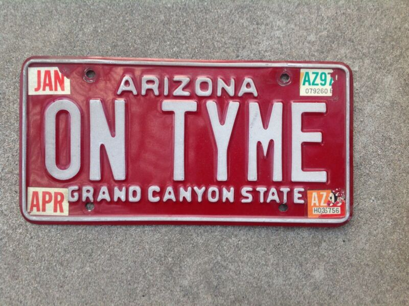 ARIZONA VANITY LICENSE PLATE