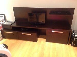 Unite TV en veritable bois condition parfaite à vendre