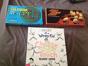BOARD GAMES ( X3) DIARY OF A WIMPY KID And SOLITAIRE AND ZED Mount Martha Mornington Peninsula Preview