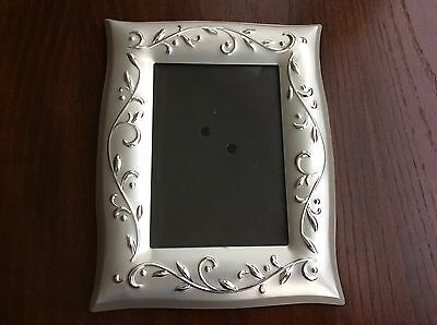"Lenox Opal Innocence ""Wedding Promises"" Silver - Plated 5 x 7 Frame"