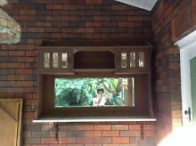 Wooden and marble cupboard with bevelled mirror Northbridge Willoughby Area Preview