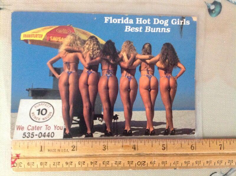 POSTCARD,   FLORIDA HOT DOG GRILS