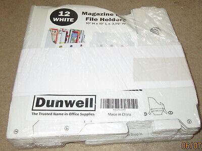 Dunwell Magazine Box File Holders 12 White 10 X 10 X 3.75