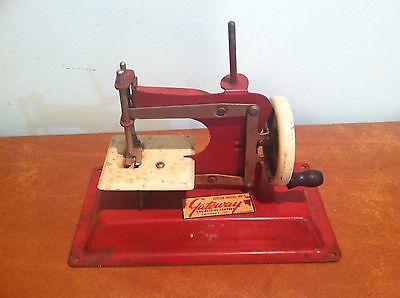 Antique Vintage Child`s Toy Miniature Sewing Machine Gateway Junior Model