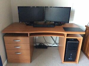 Wooden Office Desk Taringa Brisbane South West Preview