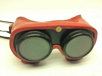 Vintage Used Red Black Welding Goggles Glasses Jackson Products Z87 1-79
