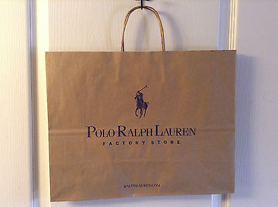 "POLO RALPH LAUREN paper shoppingLOGO  bag LARGE GIFT TOTE 16"" X 12"""
