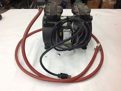 Gast 72r547-v251-d303x Twin Piston Vacuum Pump 115v 1ph  Used Working Pump