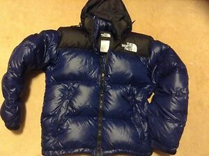 North face blue and black winter jacket, coat, top