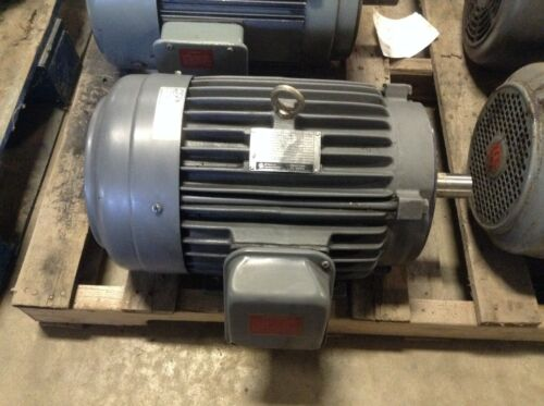 GE General Electric 5KE215KC205A 10 HP 1755 RPM 230/460 VAC AC Motor 215TCY