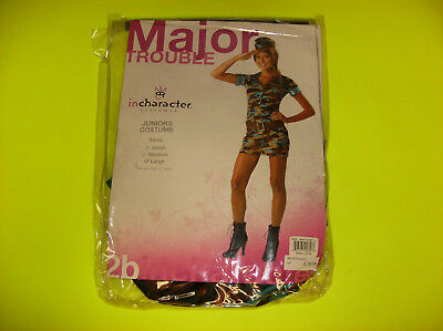IN CHARACTER MAJOR TROUBLE ARMY GIRL JUNIOR HALLOWEEN COSTUME LARGE - Female Army Halloween Costumes