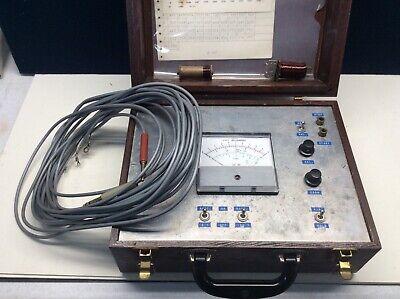 Vintage Weston Volts Meter Wood Box Untested Motorola Pt. No. 72d82794c01
