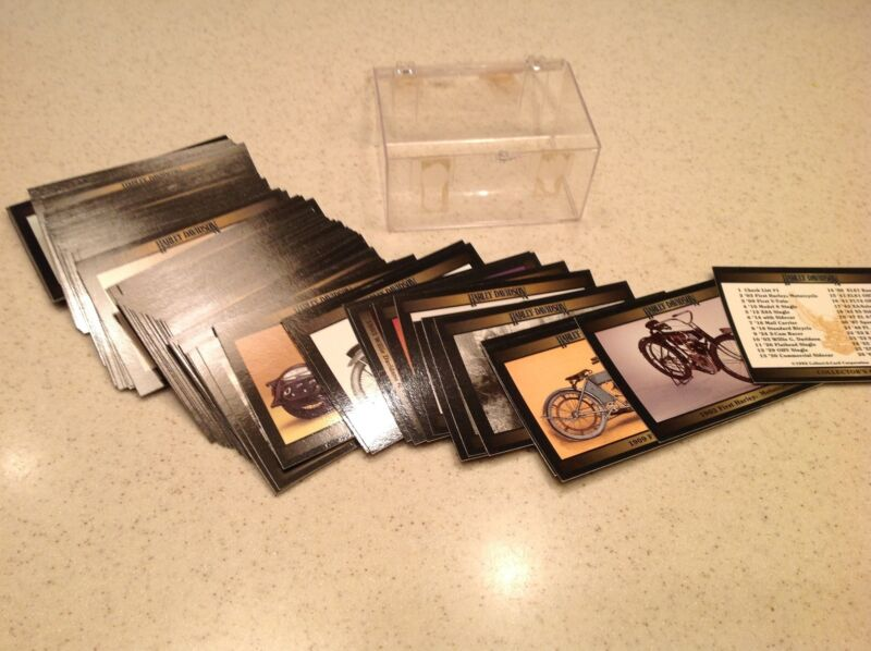 Harley Davidson Collector Cards Series 1 1992 W/ Plastic Case Trading Cards