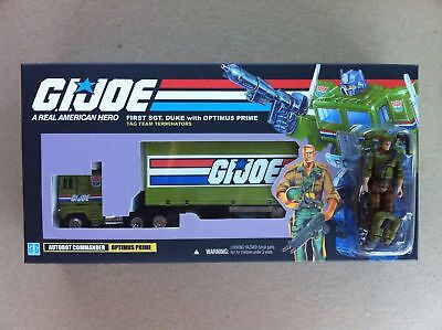Transformers G1 G.I. Joe Optimus Prime with Duke Custom Box!!!
