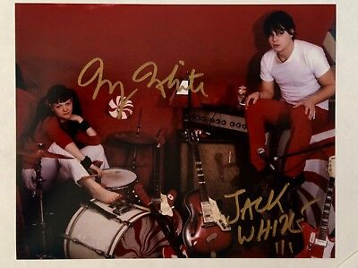 Jack White / Meg White The White Strips 2X Autographed 8 x 10 PHOTO/ T. M COA  for sale  Shipping to Canada