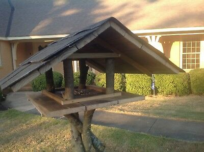 Large New Handmade solid wood Bird Feeder/House - Weather resistent
