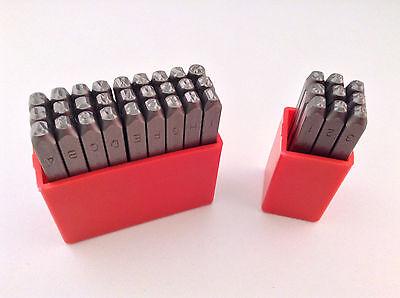 36pc 18 3mm Letter Number Stamp Punch Set Hardened Steel Metal Wood Leather