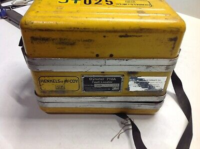 Dynatel 710a Fault Locator Telephone Cable Yellow Case Used 3 M Telcomm