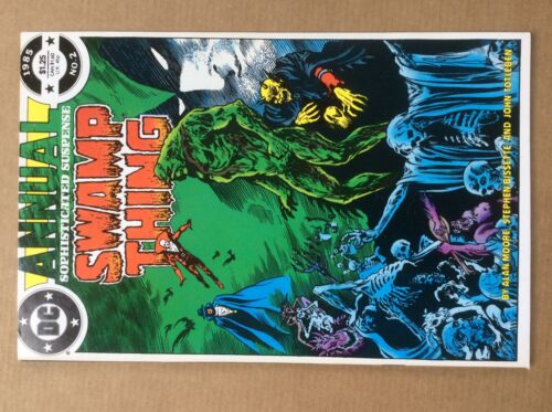 Swamp Thing Annual 2 Sharp VF/NM CLASSIC 1st Justice League 1985 Great Art!