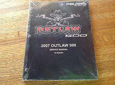 OEM Polaris 2007 Outlaw 500 ATV Service Manual w/CD PN: 9920786 New