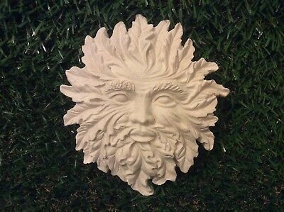 LATEX AND FIBREGLASS MOULD GREEN MAN WALL PLAQUE 15CM TALL ORNAMENT MOULD©