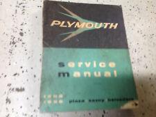 1955 1956 Plymouth Plaza Savoy Belvedere Service Shop ...