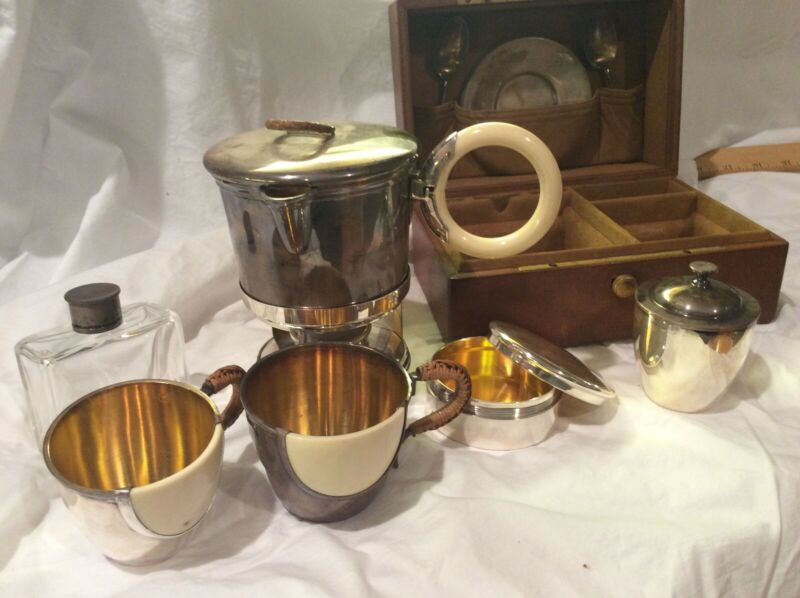 Rare 1900 Tonnel 12 Rue De La Paix Paris Travel Tea Set